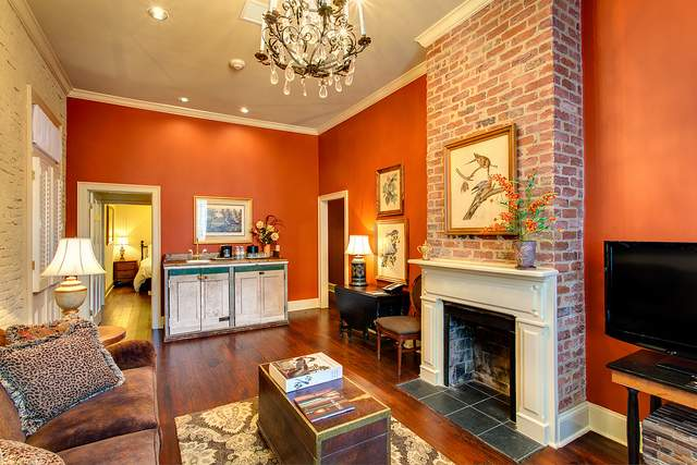 Suite interior at Audubon Cottages in New Orleans