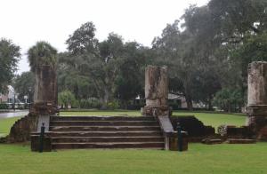 Stone ruins at Palmetto Bluff