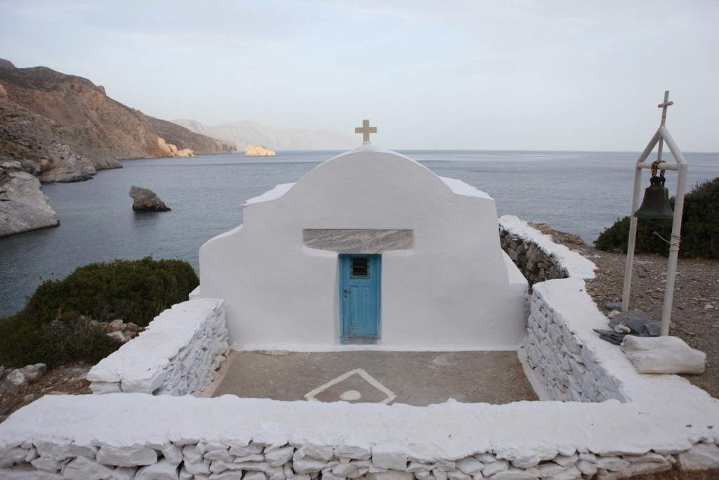 Chapel on beach on Amorgos island