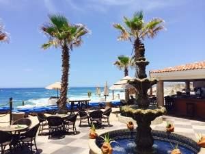 El Patio pool bar at Haceinda Encantada on a Mexico all inclusive honeymoon