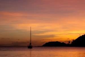 sunset at Carlisle Bay, all inclusive on Antigua