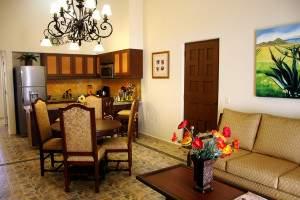 kitchen in suite at Hacienda Encantada resort  in Cabo