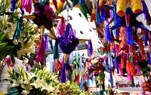 market in San Miguel de Allende on a Mexico honeymoon