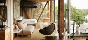 bed with view at Singita Lebombo on a South Africa honeymoon