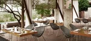 restaurant at Singita Lebombo on a South Africa honeymoon