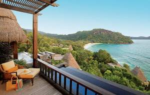 plunge pool suite at MAIA resort on a Seychelles honeymoon