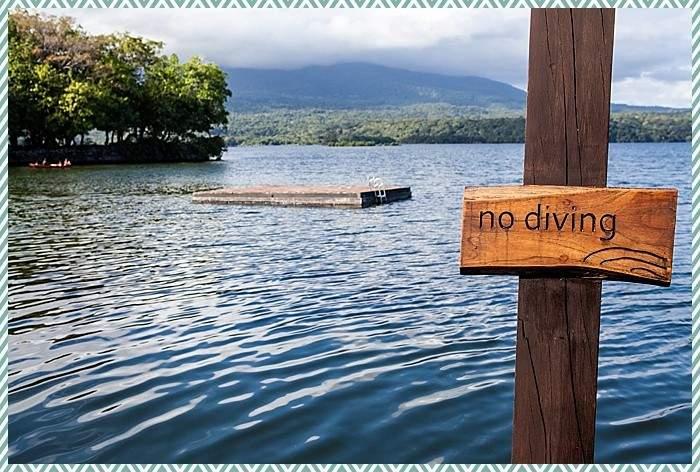 Lake Nicaragua swimming deck