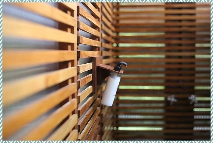 open air shower at Jicaro eco resort Nicaragua