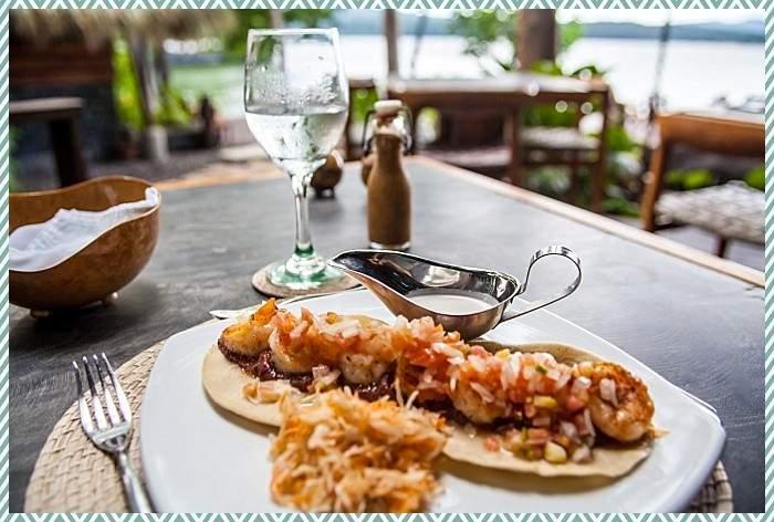 shrimp tacos Jicaro Nicaragua