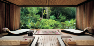 Couples' suite at the spa at Phulay Bay