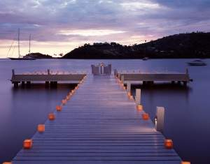 Candlelit Dining on the Jetty at Antigua all inclusive