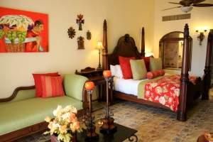 Master suite at Haceinda Encantada on a Mexico all inclusive honeymoon
