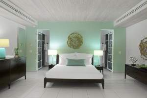 Carlisle Bay Ocean Suite bed, Carlisle Bay Hotel, Antigua
