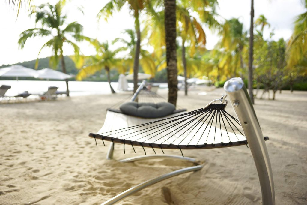Hammock at Carlisle Bay Hotel, an all inclusive resort in the Caribbean