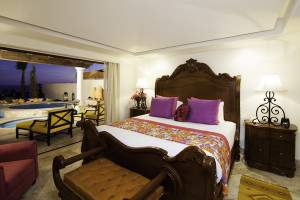 Residence bedroom at Haceinda Encantada on a Mexico all inclusive honeymoon
