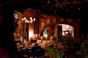 Salon in Casa Hyer in San Miguel de Allende on a Mexico honeymoon