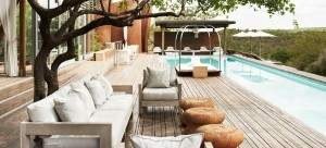 main pool at Singita Lebombo on a South Africa honeymoon