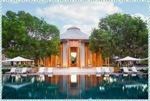 Amanyara main restaurant and pool