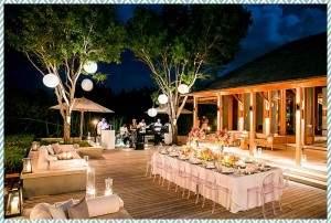Amanyara villa dinner by Scott Clark Photo