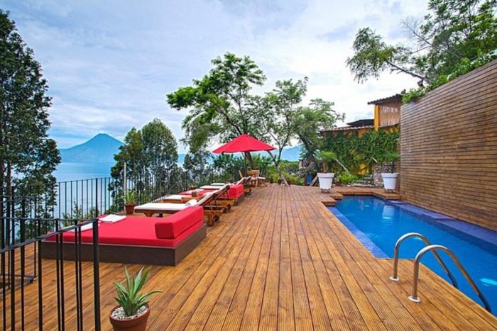 Casa Popolo pool in Lake Atitlan Guatemala