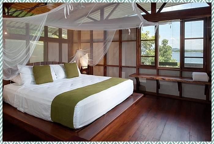 Romantic canopy bed at Jicaro eco resort in Nicaragua